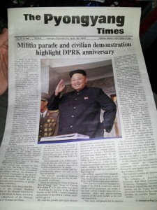 Free copy of the Pyongyang Times!