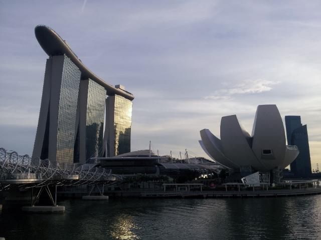 Singapore part 3 sentosa bay chinatown raffles hotel - Singapore tallest building swimming pool ...