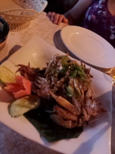 Delicious food, like Kampot pepper crab, was everywhere!