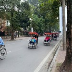 Cyclos (basically adult strollers) take tourists around the city