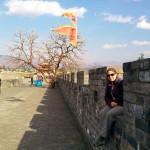 Sara on the city walls