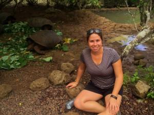 At the tortoise sanctuary