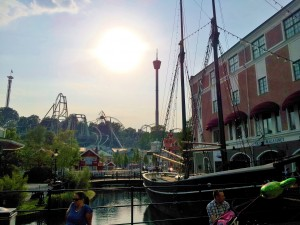 "Liseberg, with the amazing ""Helix"" rollercoaster"