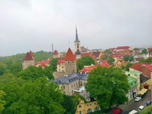 Tallinn was a beautiful city to fly into