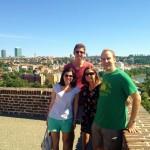 Natalie, Kyle, Sara, and Al atop the fortress