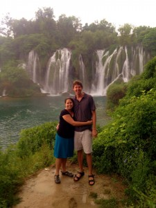 Us at the Kravice waterfalls