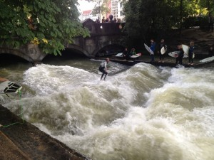 Urban surfing - not something I expected to see in Munich