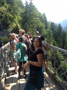 Sara was eagerly awaiting Neuschwanstein...