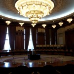 The room where the communist leaders meet, now called the Human Rights room (irony not lost). Notice the amazing chandelier.