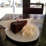 Tasty chocolate cake from Sacher