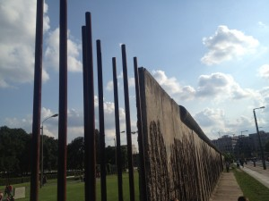 Seeing how the wall split Berlin was crazy