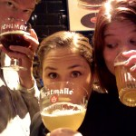 Warm-up beers for our week in Belgium