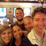 Enjoying De Struise with our new Belgian friends