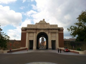 Menin Gate Memorial, in honor of the thousands who died to protect Belgium