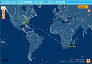 That's a long flight!