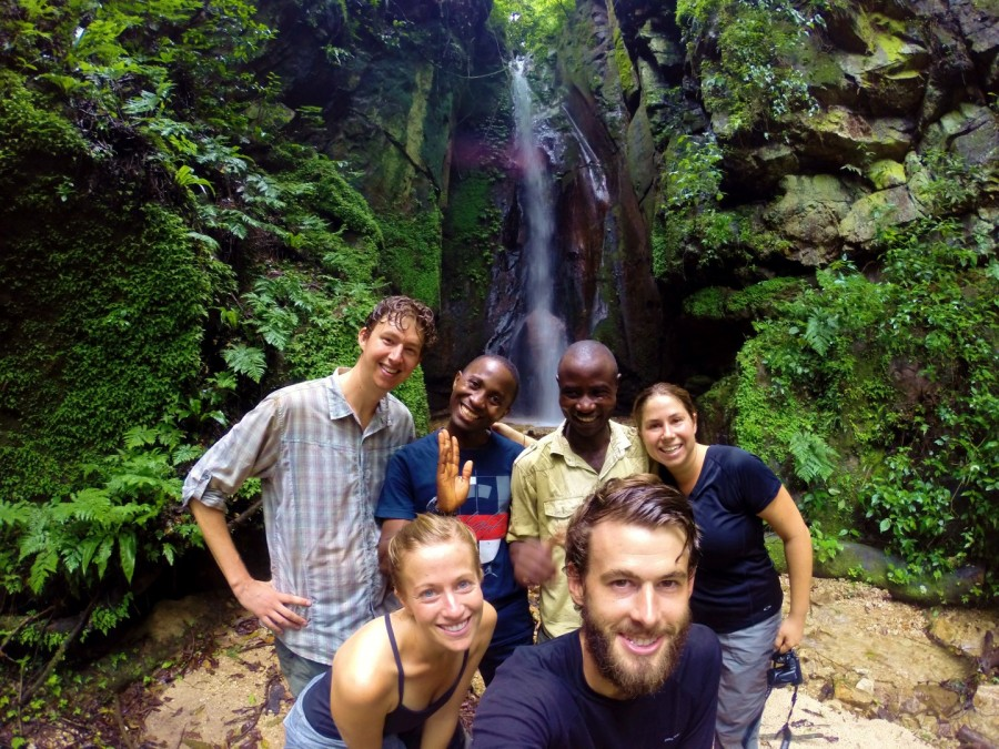 Our guides and our fellow trekkers, Wes and Katie